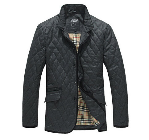 Lesmart Men's Winter New Padded Coat Jacket Stand Collar Fashion Business Casual Diamond Quilting Thicken Warm Outerwear11.11