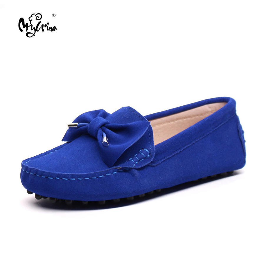 MYLRINA Haute Qualité 100% Véritable Cuir Femmes Chaussures Mode Femmes Appartements Mocassins Marque Slip On Casual Conduite Chaussures