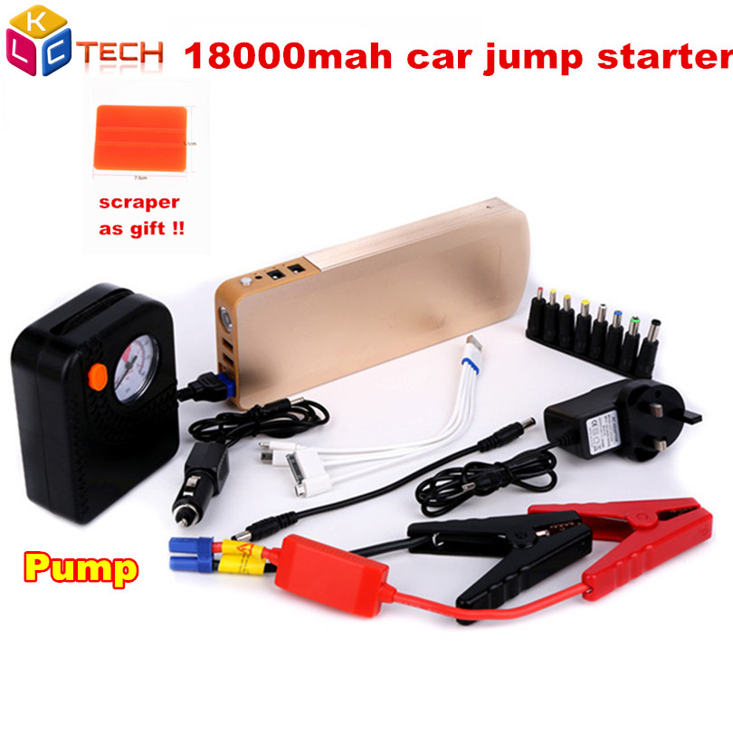 Hot Sell With Pump 18000mAh Jump Car Jump Starter Multi function K66 Portable Emergency Power Car