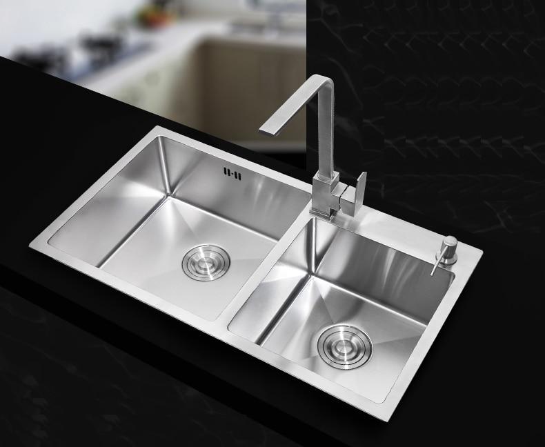 730400220mm Stainless steel undermount kitchen sinks