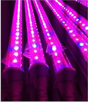 Wholesale 2ft 600mm T8 LED Tube Grow Light 6w Red 620nm 630nm Blue 460nm 470nm Greenhouse