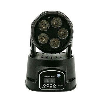 Светодиодный светильник с подвижной головкой 5X18W RGBWA + UV 6in1 светодиодный светильник сценический светильник с эффектом дискотеки стробоскоп ...