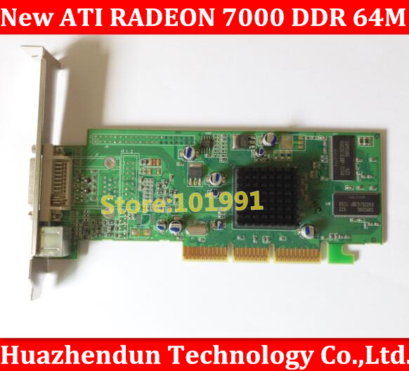 New ATI Radeon 7000 64M AGP DVI Video Card Graphic Card high Quality Radeon7000 dhl ems free shipping new ati radeon 9550 256mb ddr2 agp 4x 8x video card from factory 50pcs lot