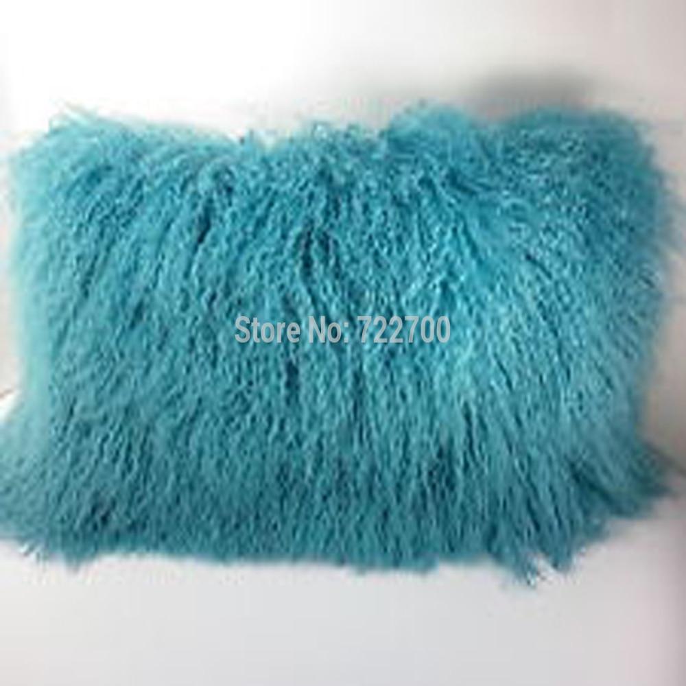 real mongolian fur pillow cover vintage chair tibetan sheepskin fur cushion covers sofa decorative throw pillows home decor