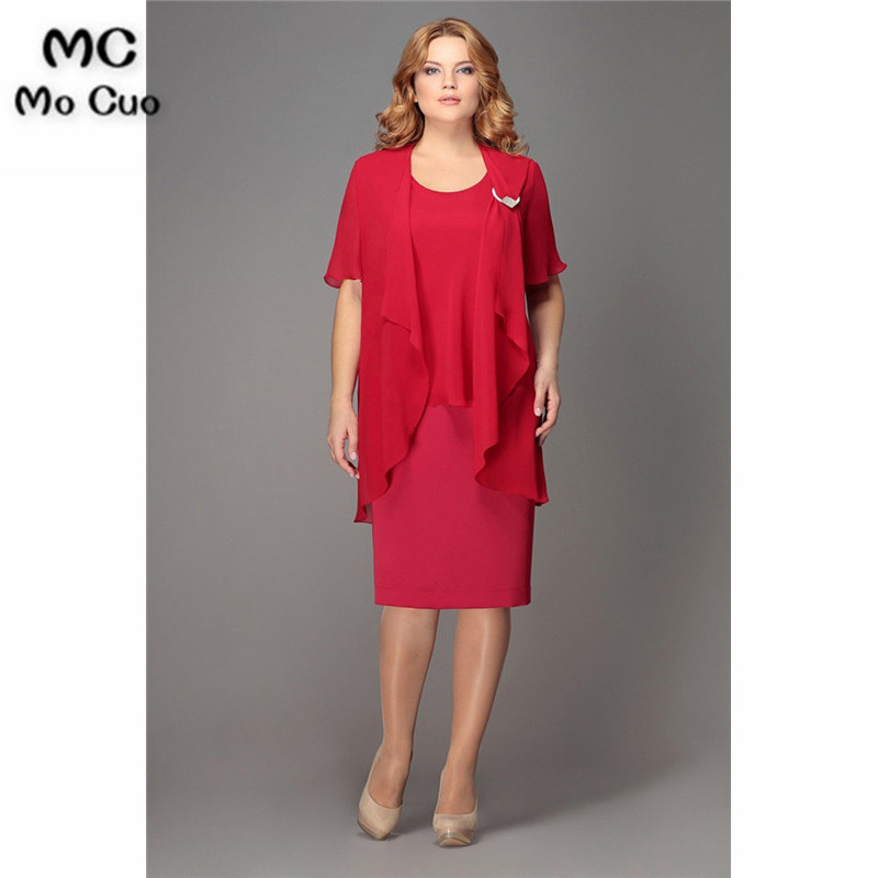 2019 Simple Red Mother Of The Bride Dresses Short Sleeve Dress For Graduation Mother Of The Bride Dresses For Weddings