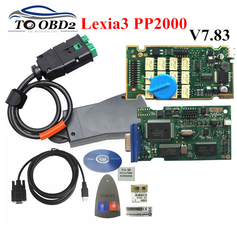 Best Quality Lexia 3 Lexia3 V48/V25 Diagbox V7.83 PP2000 Firmware 921815C for Peugeot/Citroen Diagnostic Tool Multi-Language