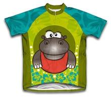 Florido hipopótamo niño ciclismo verano de manga corta niños bicicleta transpirable ropa ciclismo maillot ciclismo ciclismo clothing