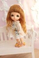 Hot Sale Doll sd doll orange colour hair for 1/8 doll bjd/sd wig