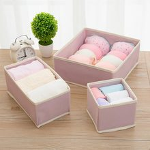 6PCS/Set Underwear Bra Storage Boxes Drawer Organizer Socks Scarfs Case Wardrobe Closet Divider Clothes Necktie Container