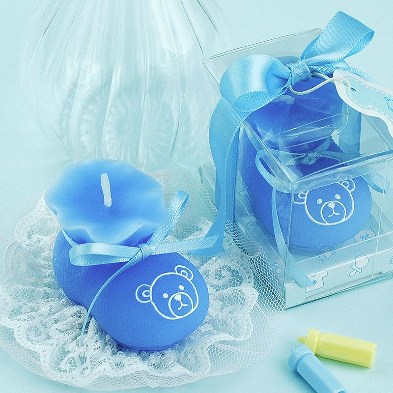 Cute Baby Shoe Candle Baby Shower Baptism Party Favor
