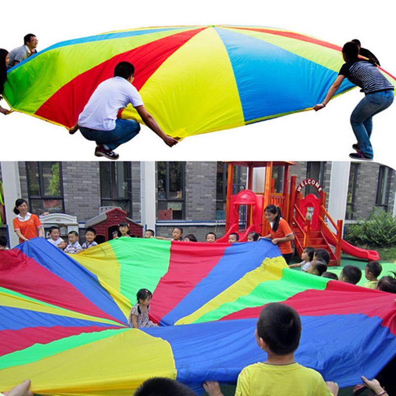 paracadas m arco iris paraguas nios juguetes al aire libre para nios juegos deportivos cooperacin