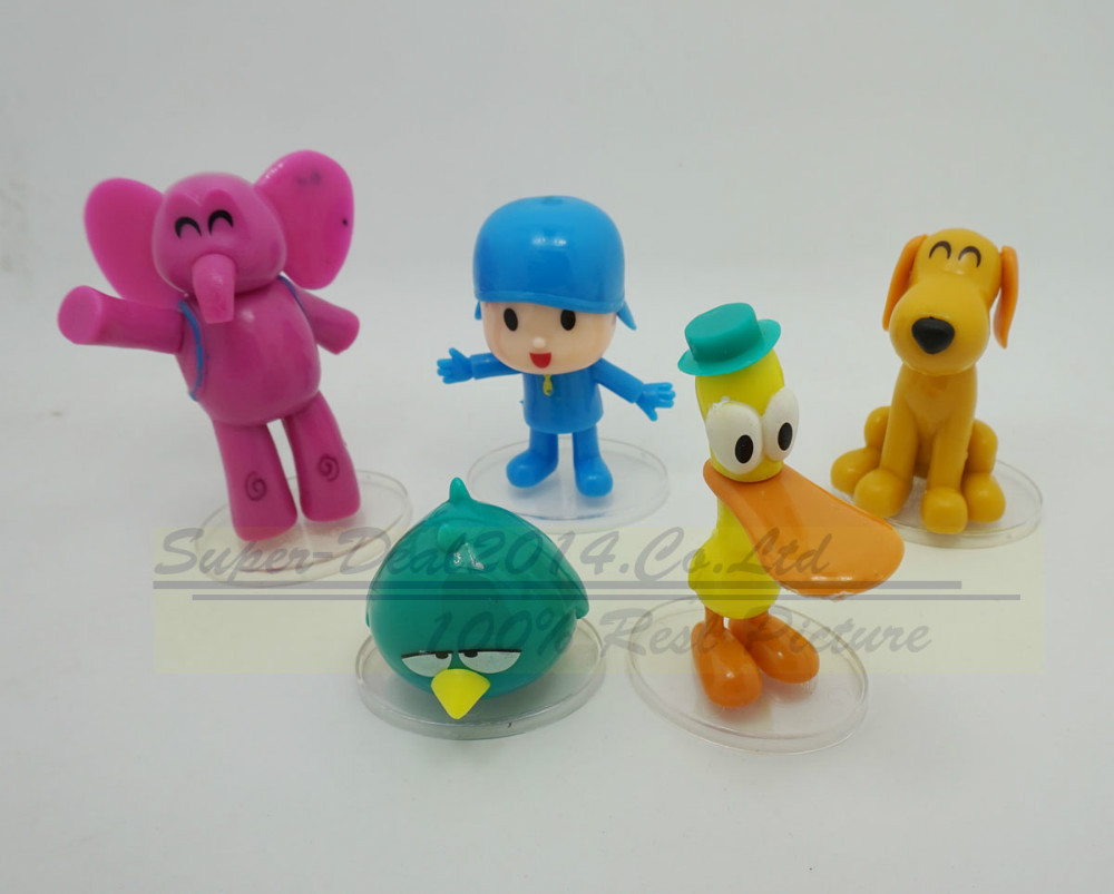 5pcs /set Anime Cartoon Pocoyo Toys Dolls PVC Action Figures Child Toys Gifts Free Shipping free shipping toy story 3 buzz lightyear woody sound toys pvc action figures model toys dolls 3pcs set christmas gifts dsfg092
