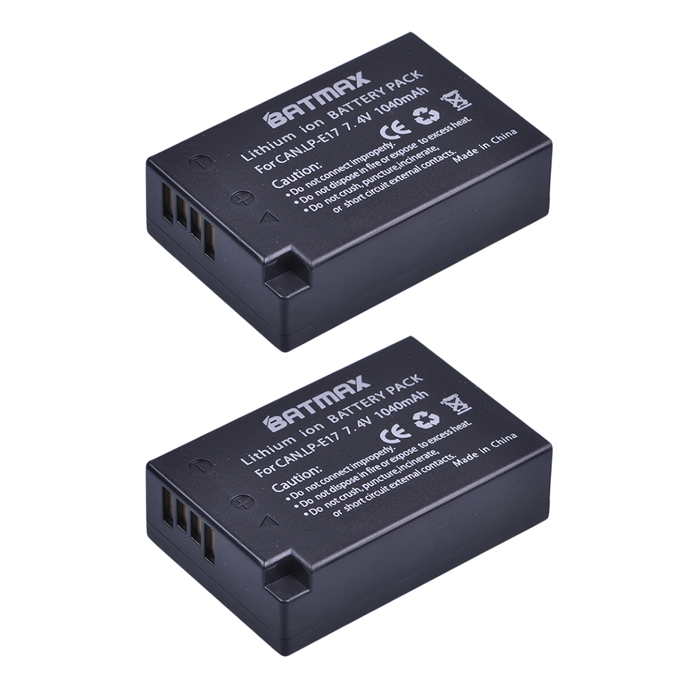 2Pcs LP E17 LP E17 LPE17 Lion Battery for Canon EOS M3 M5 760D/800D/Kiss 8000D/Rebel T6s 750D/Kiss X8i/Rebel T6i/ M3-in Digital Batteries from Consumer Electronics
