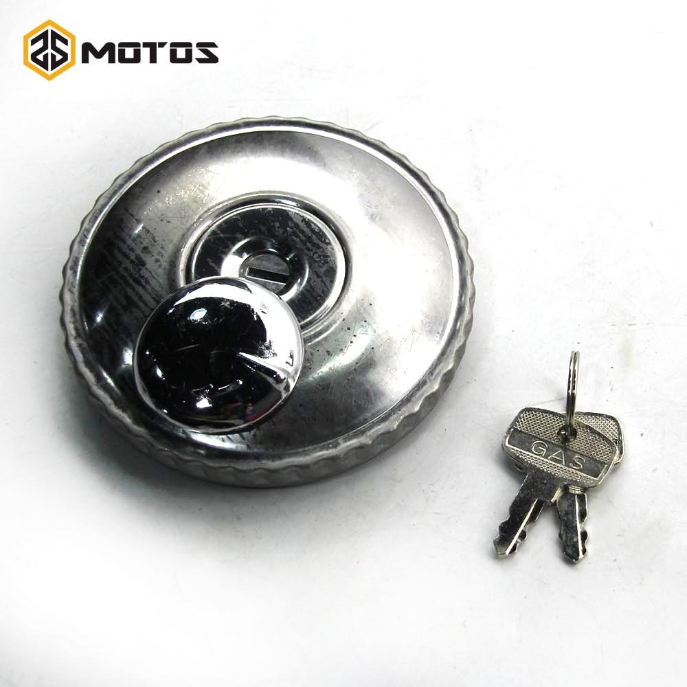 ZS MOTOS CJ-K750 Side Motorcycle Stainless Steel Fuel Tank Lock Cap With Key For Motor Ural M72 BMW R50 R1 R12 R 71 CJ-K750