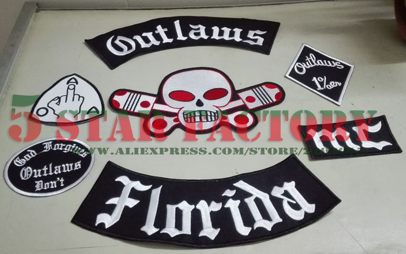 Support your local outlaws — sylo iron cross patch.