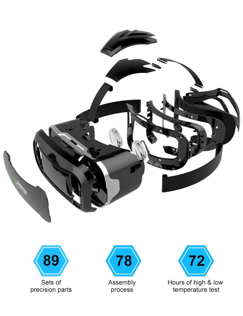 Original Shinecon VR Box 2.0 Google Cardboard Virtual Reality Smartphone Goggles Glasses Headset With Mocute Bluetooth Gamepad 2