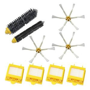 4 HEPA Filter +3 Side Brush Kit + 1 set Bristle Brush set for iRobot Roomba 700 Series Vacuum Cleaner 760 770 780 790 accessory cheapest 1pcs cleaning mopping cloth 3 pair hepa filter 3 pair cleaner side brush for dt85 dt83 dm81 vacuum cleaner for house