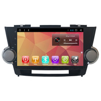 10.1 Android Autoradio Car Radio Audio Sat Nav Head Unit for Toyota Highlander Kluger 2006 2007 2008 2009 2010 2011 2012 2013