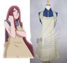 Бесплатная доставка новый наруто кушина узумаки косплей костюм платье для женщин