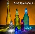 Originalidad Luz Corcho de Botella En Forma de USB Recargable Luz, Botella LED Multicolor LÁMPARA de LA Botella de Vino Tapón de Corcho USB LED de La Noche luz