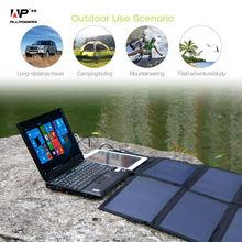 40 w cargador solar portátil panel solar cargador para iphone ipad macbook samusng huawei lenovo dell hp acer hp y más.