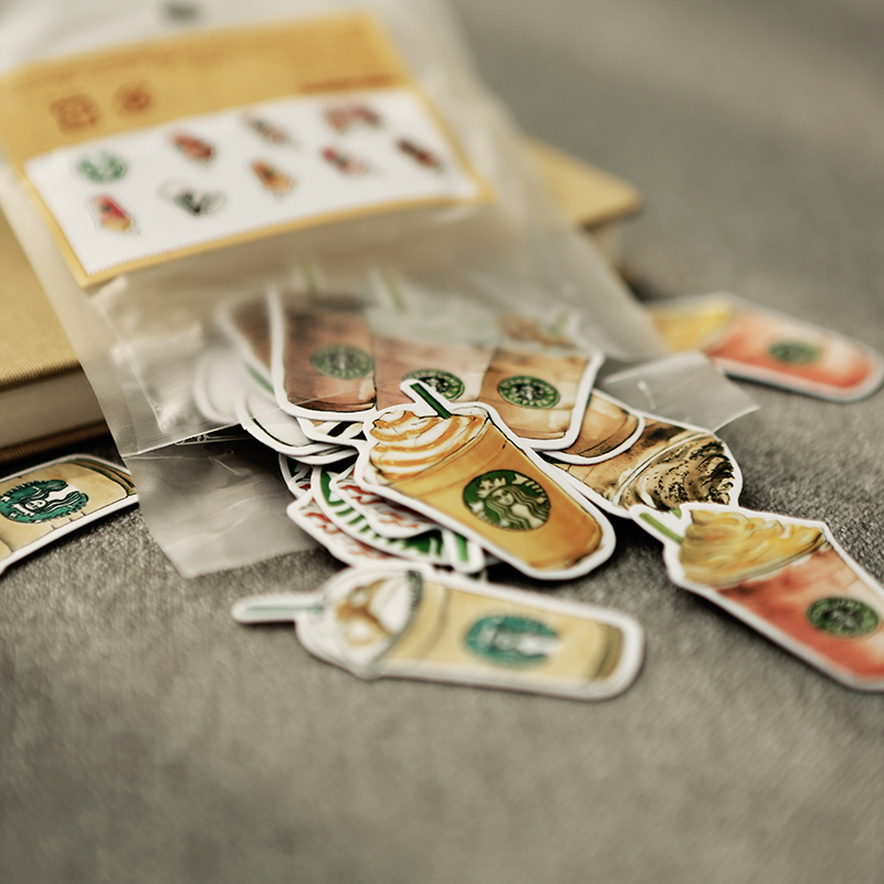 (25pcs/Pack) Cups Memo Pad Cute Decoration Label Stickers DIY Scrapbooking Stickers Star Buck Coffee Drink for School Diary wrap around sizing label 33x32 250 stickers