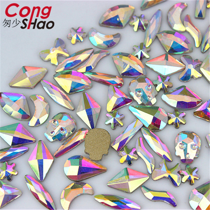 Detail Feedback Questions about Cong Shao 48pcs Mix 12 Sizes Glass  Rhinestones For Nails Art decorations DIY Glitter costume Flat Back stones  and crystals ... 9ca5bc951b53