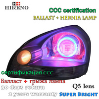 Hireno Modified Headlamp For Hyundai Tucson 2006 2012 Headlight Assembly Car Styling Angel Lens Beam HID