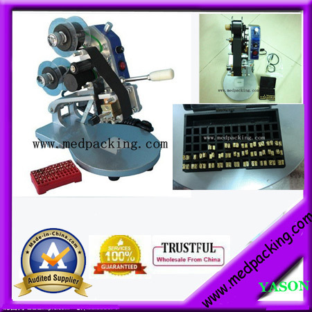 Hot press date printer/printing code machine YS-cp003 dm 3 manual expiry date printing machine code date printer