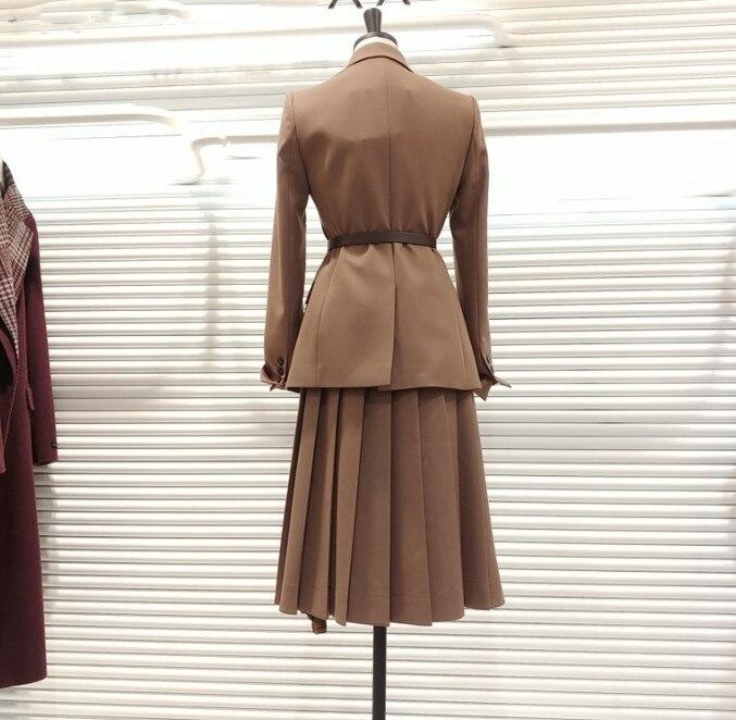 camel Color Skirt Primavera Mujeres Black Damas Otoño Irregular Traje 2019 Skirt black De Trabajo Blazer Puro Y De Las Mediados Cintura Alta Carrera Faldas Falda La longitud gdFPPwWq