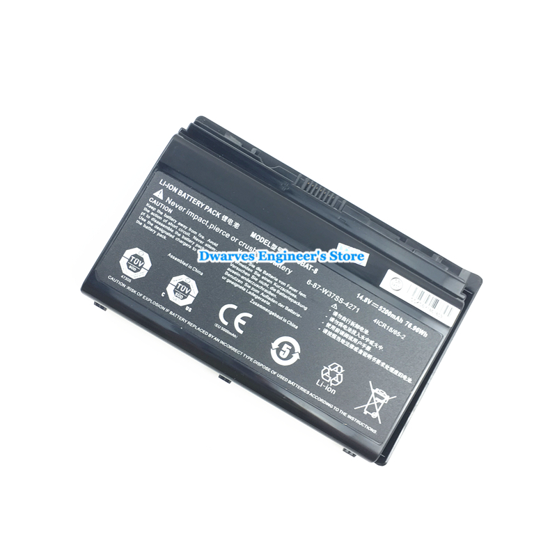 Image 3 - Original Rechargeable CLEVO W370BAT 8 Li ion Battery 6 87 W370S 4271 6 87 W37SS 427 K590S Laptop Battery 14.8V 5200mAh, 76.96Wh-in Laptop Batteries from Computer & Office