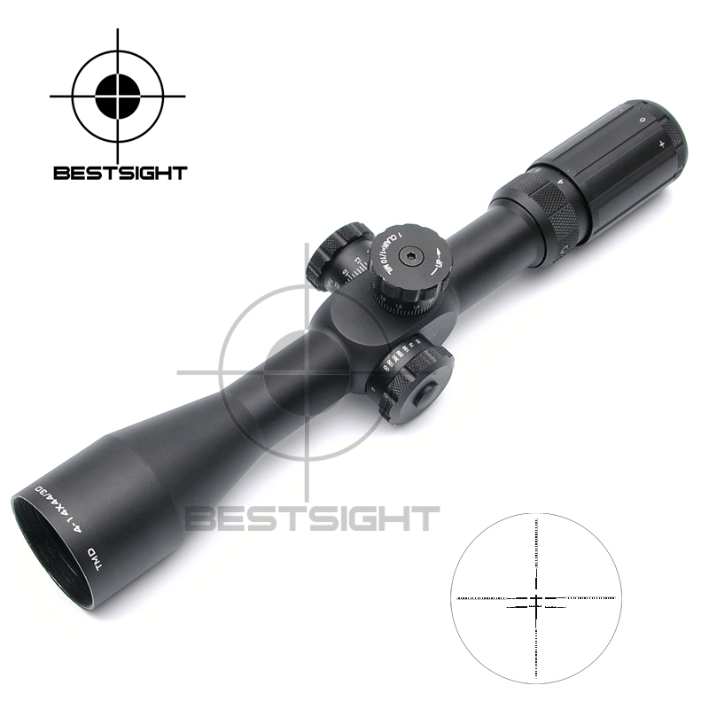 TMD 4-14X44 Tactical Shooting Riflescope First Focal Plane Optical Sight Scope Red Green Illuminated Rifle Scope Hunting Scopes marcool 4 16x44 side focus front focal plane optical sights rifle scope hunting riflescopes for tactical gun scopes for adults