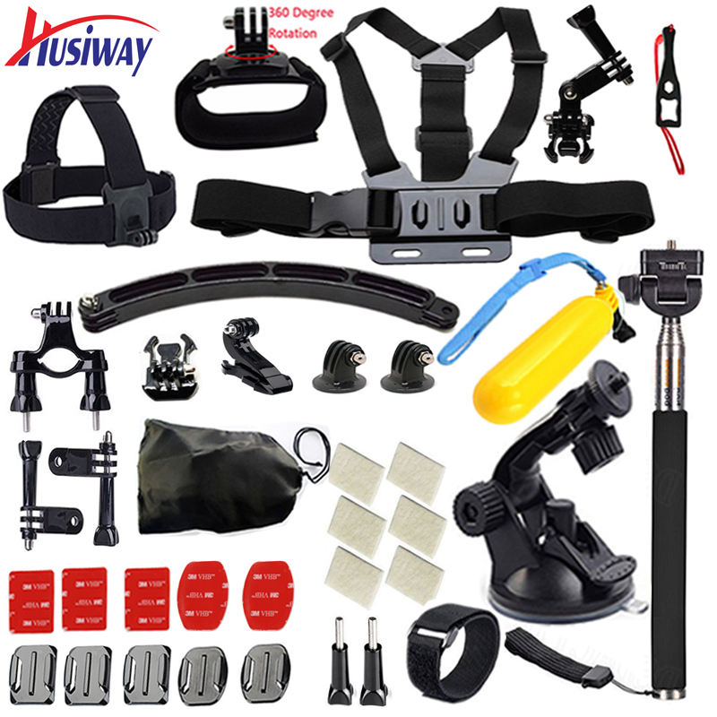 Husiway for Gopro accessories Set case Chest Belt Head Mount Strap for Go pro hero 5
