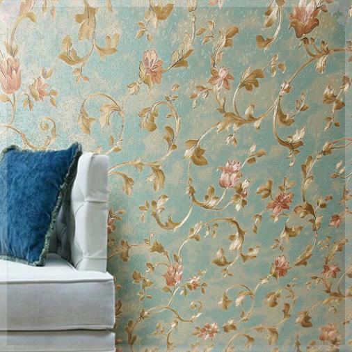Vintage Luxurious Flowery Floral Pvc Wallpaper Roll Design 3d Home Gorgeous Decor For Bedroom Living Room