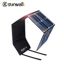 SUNWALK ELEGEEK 50 Watt Tragbare Solar Panel Ladegerät 5 V 12 V Dual-ausgang Klapp Solar-ladegerät für Laptop iPhone iPad
