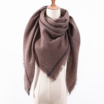 design 2020 new winter scarf knitted warm neck cashmere scarves lady pashmina shawls wraps foulard female luxury band bandana - discount item  40% OFF Scarves & Wraps