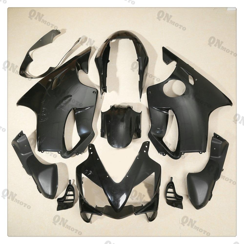 Motorcycle Unpainted Black Fairing Cowl Body work Kit For Honda CBR600F CBR 600 F  F4i 2004-2007 05 06 + 4 Gift