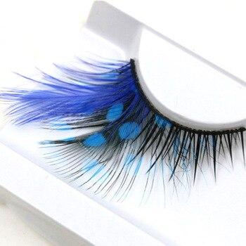 YOKPN Pure Hand False Eyelash High Quality Exaggerated False Eyelashes Stage Party Lashes Extensions Eye Lashes Makeup Tools