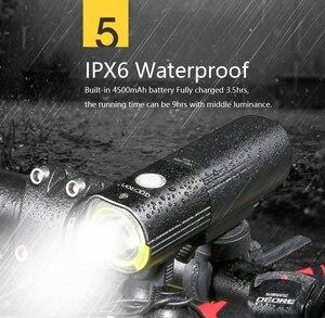 Image 5 - GACIRON Bicycle bike Headlight Waterproof 1000 Lumens MTB Cycling Flash Light Front LED Torch Light Power bank bike accessories