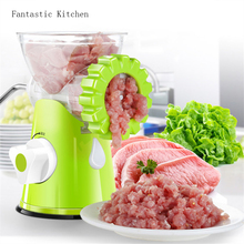 Manual meat grinder household kitchen multi-function meat grinder Meat Grinders for Kitchen Tool Cutter Slicer meat AA0088