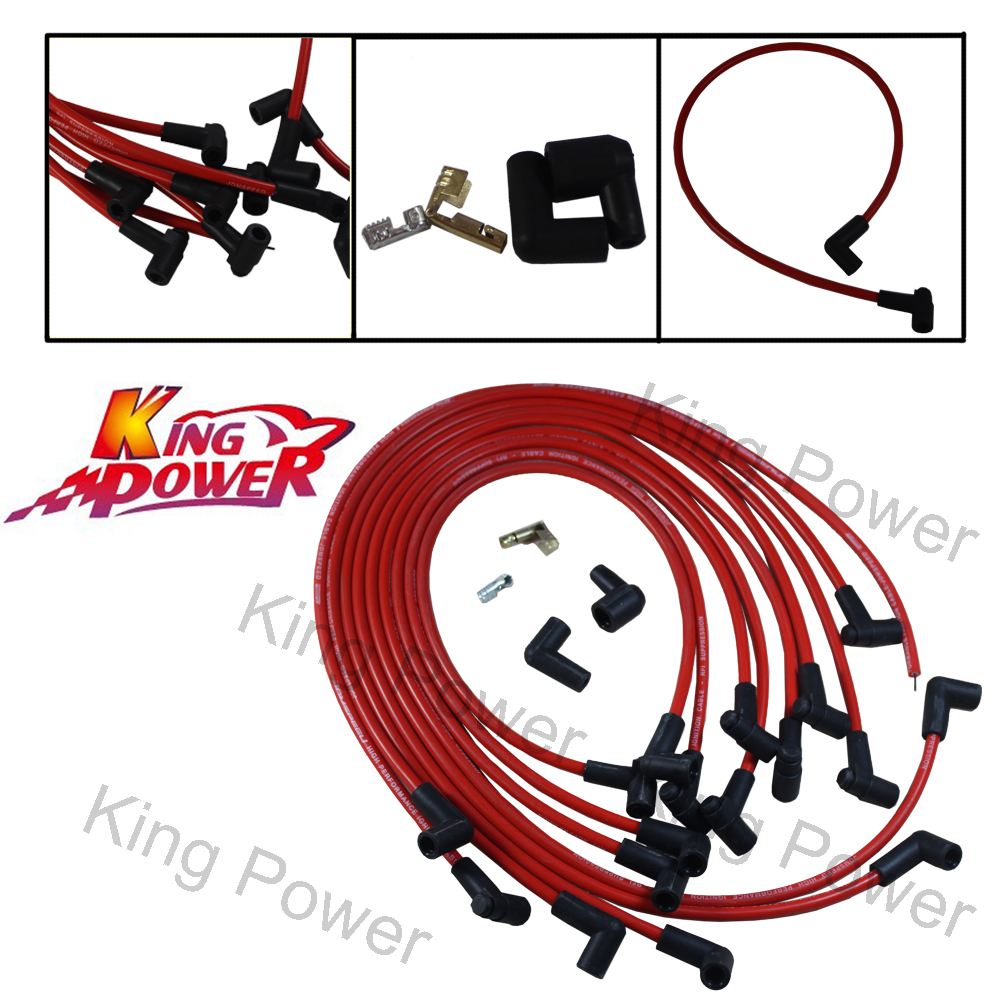 kp- free shipping - performance ultra 40 red spark plug wires big block for  chevy bbc 454 502 hei