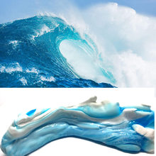 60ml Hand Gum Playdough Sea Wave Style Fluffy Slime Floam Light Clay Modeling Polymer Clay Sand Antistress Plasticine Gum(China)