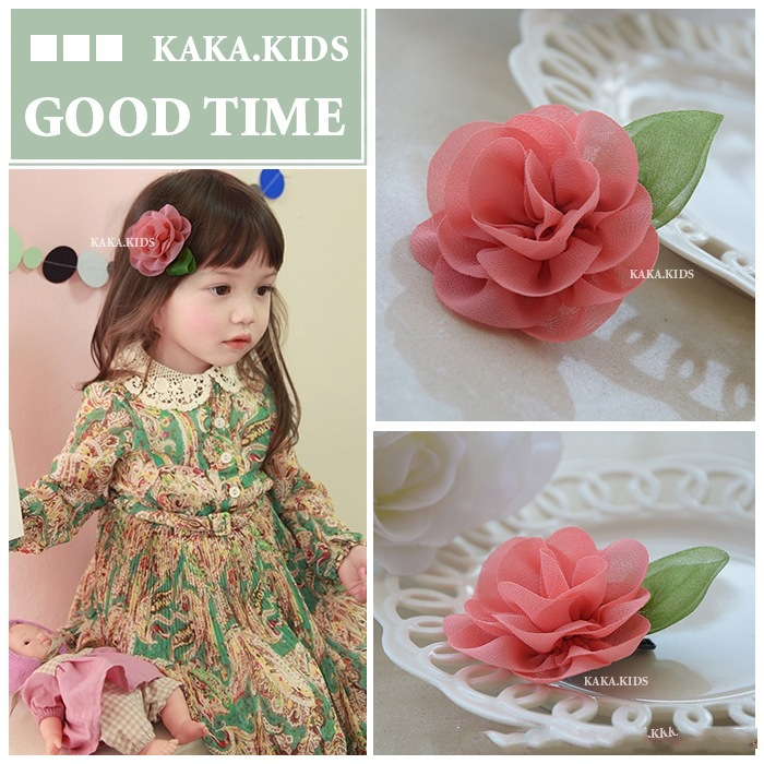 New Children's Flower Hairclip Baby Child Girls Headdress Hairpin Tiara Princess Hair Clips For Children Acessorio De Cabelo T new high quality baby hair accessories children s cute lace bowknot hair clips baby girl hairpin child hair bow ribbon headdress