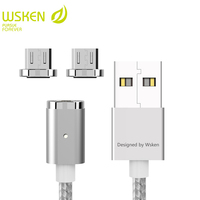 WSKEN Mini 2 Magnetic USB Cable Fast Charging Magnetic Charger Mobile Phone Micro USB Cables For Samsung S7 Micro USB Devices