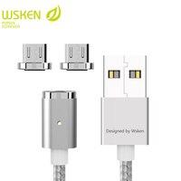 WSKEN Mini 2 Manyetik USB Kablosu Hızlı Şarj Manyetik Şarj cep Telefonu Samsung Için Mikro USB Kabloları S7 Mikro USB cihazlar