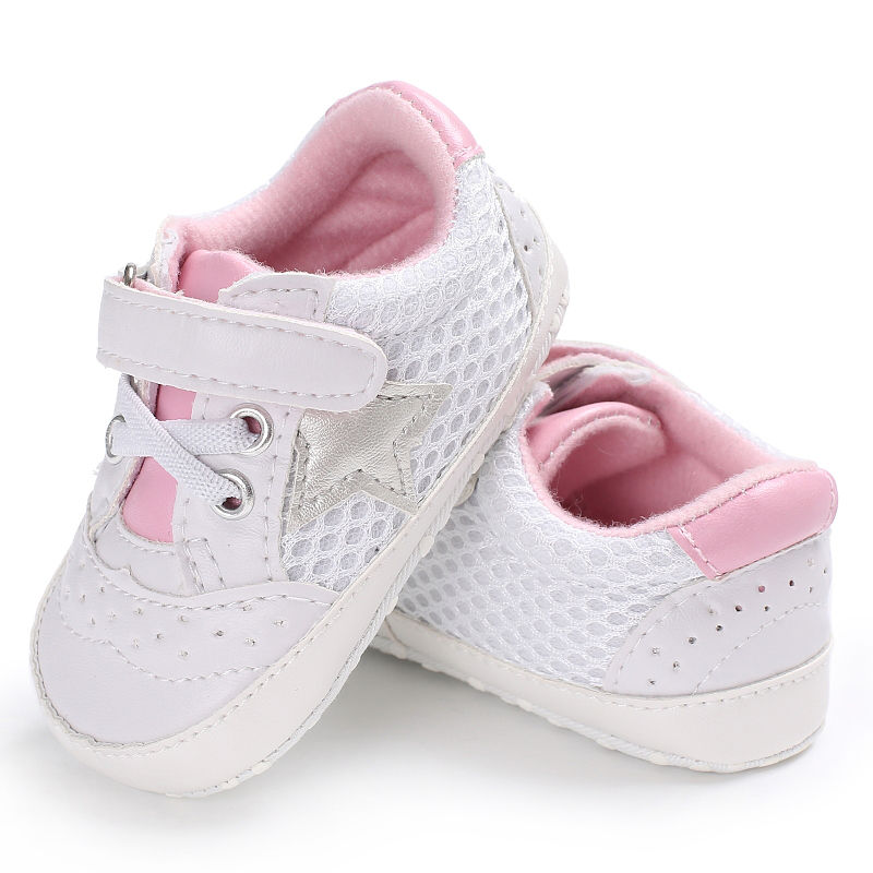 2018 New Baby Cack Soft Sole Five-pointed Star Toddler Autumn Casual PU Anti-slip Cute Children Newborn Baby Shoes