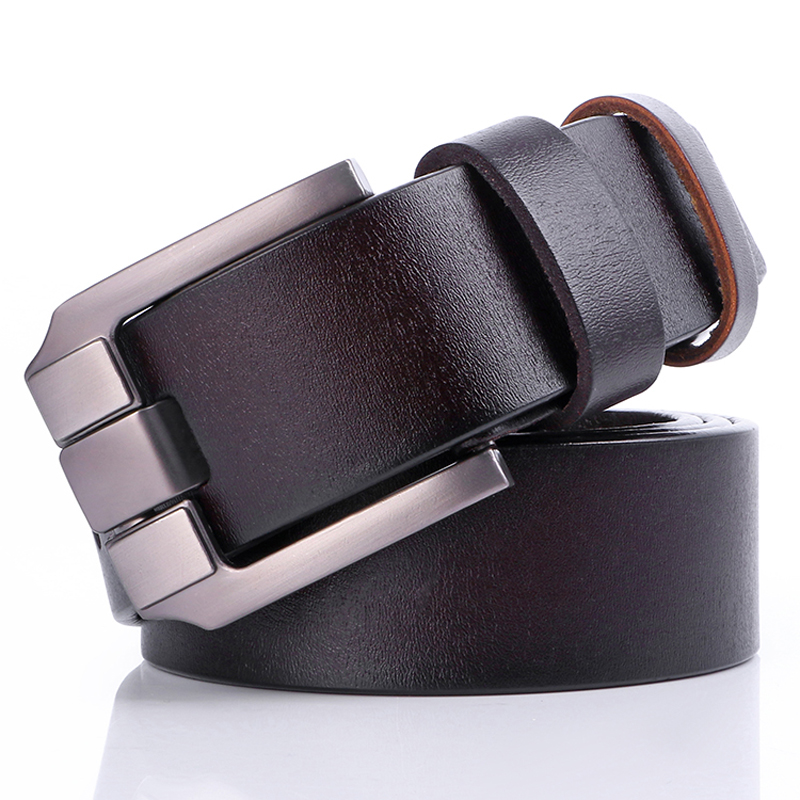Badinka 2018 New Designer 100% Wide Cowhide Genuine Leather Belts for Men Pin Buckle Vintage Cowboy Jeans Strap Belts 110-125cm