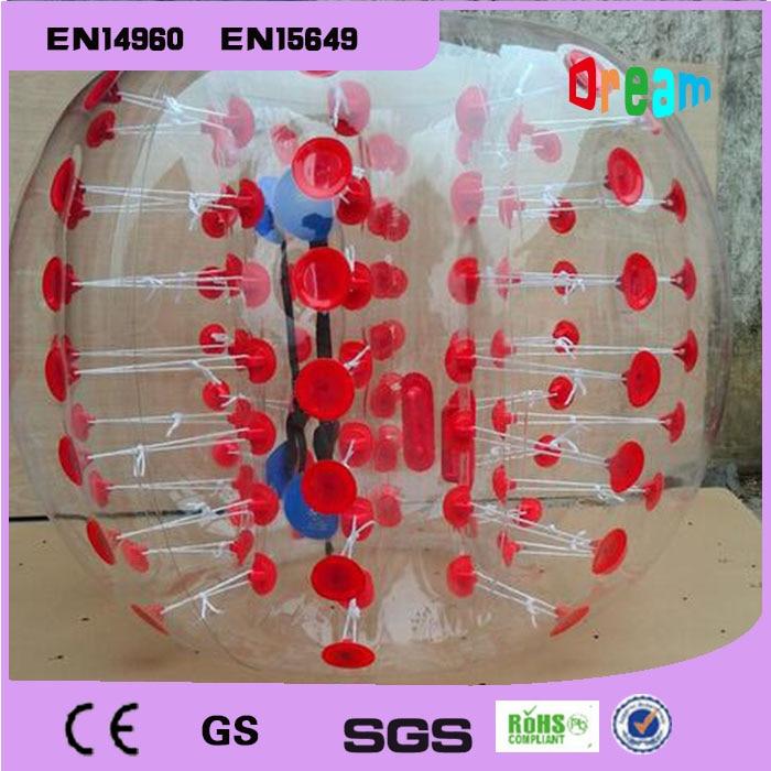 8 balles 1.5 m et 4 balles 1.2 m avec 2 pompes ballon de Football gonflable bulle ballon de Football pare-chocs 1.0mm matériau de polyuréthane thermoplastique