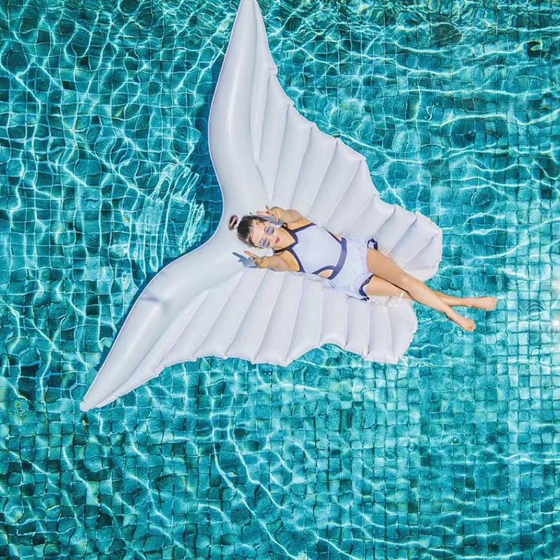 Rooxin flotteur piscine matelas gonflable plage 250cm ailes d'ange femmes anneau de natation cercle de natation pour adultes jouets de fête d'été - 4