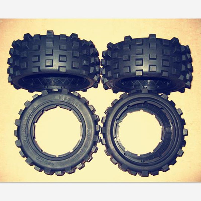 LT Tire Tyres skin for Losi 5IVE Rovan Losi 5T Losi DBXL Parts billet rear hub carriers for losi 5ive t